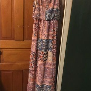 By&by floral pink maxi dress